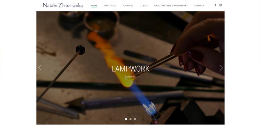 Сайт - Портфолио художника по стеклу